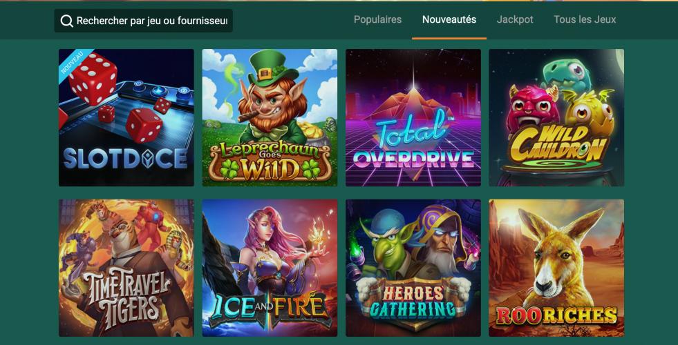Cresus casino jeux
