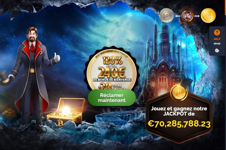 Monte Cryptos casino une