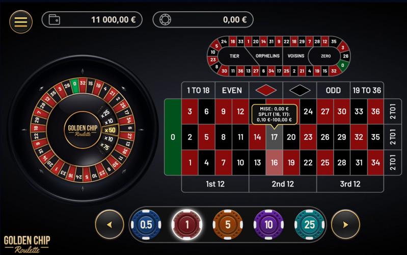 roulette golden chip