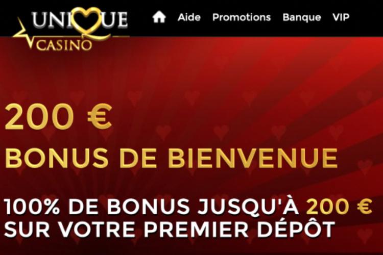 unique casino UNE bonus